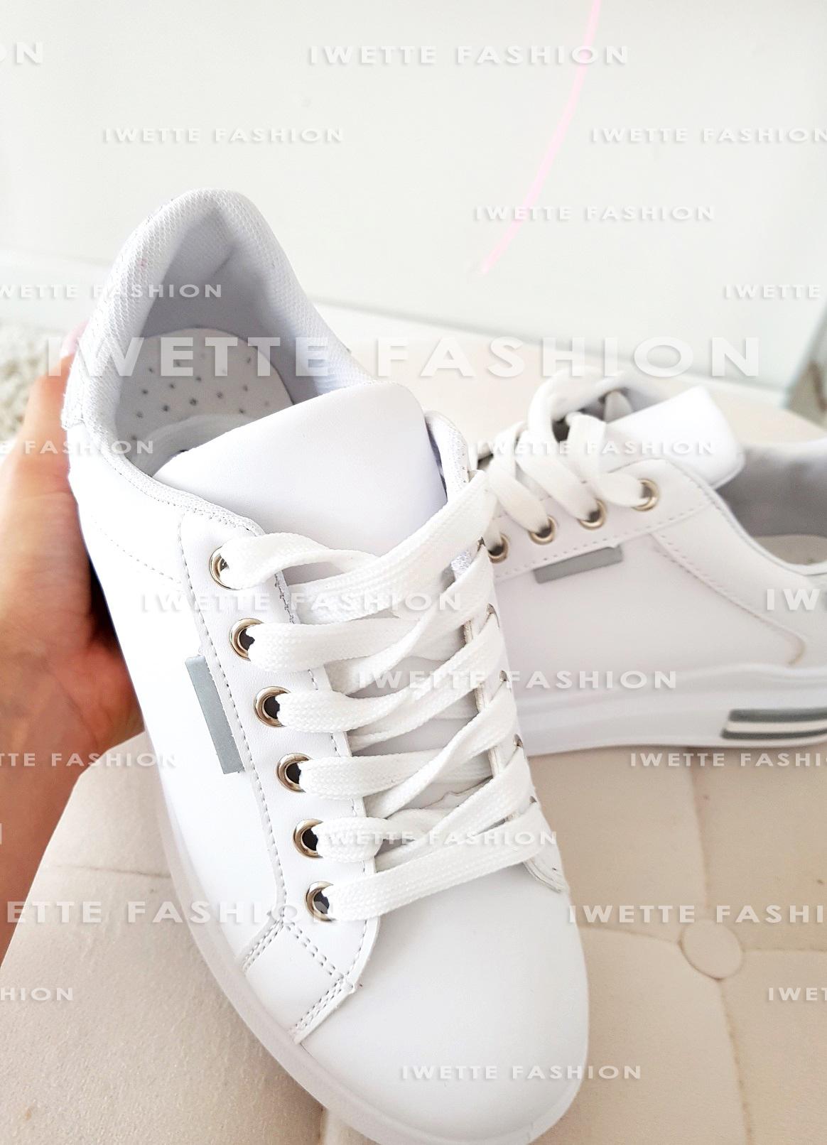 Sneakersy Silver Holo Obuwie Iwette Fashion