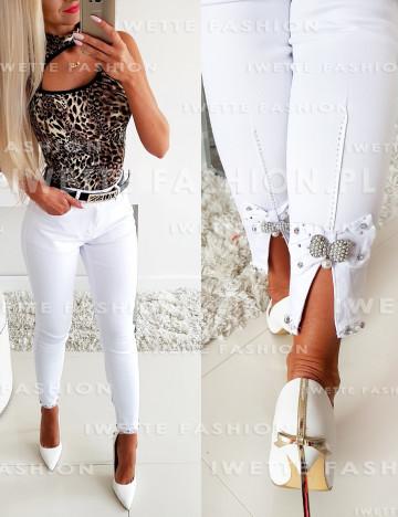 Spodnie Jeans Luna White [07]
