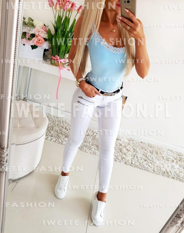 Spodnie White ZIP