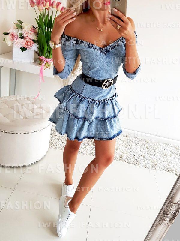 Jeansowa Sukienka Sussan