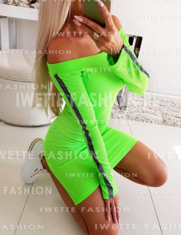 Sukienka Lampas Green Neon