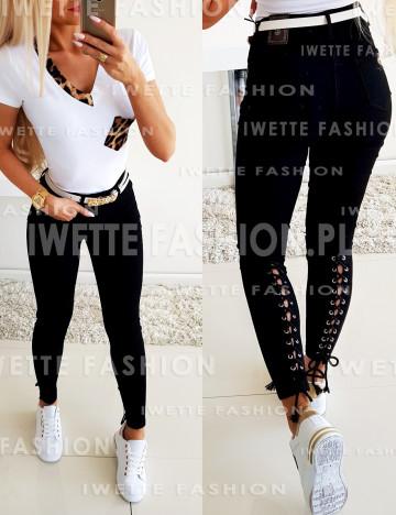Spodnie Wiązane Jeans [08]