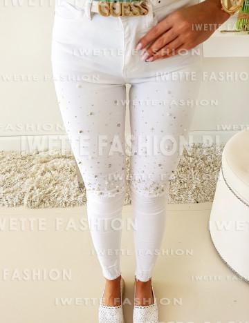 Spodnie Pearls White[77]