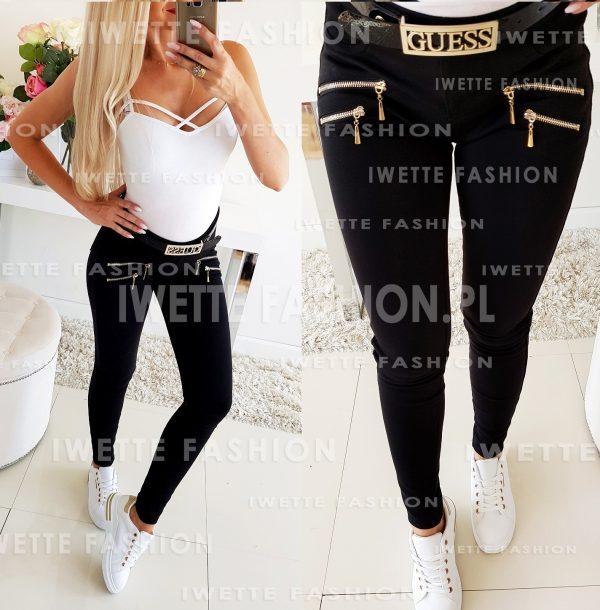 Spodnie Black ZIP