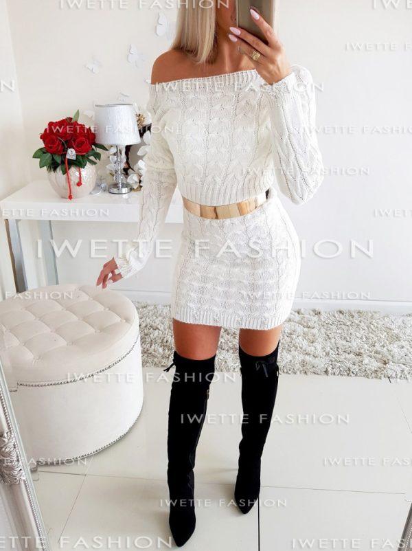 Sukienka Warkocze Ecru