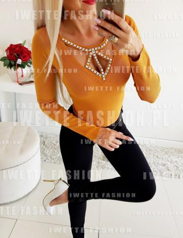 Sweterek Vera Miodowy