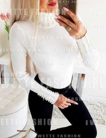 Sweter Pearls Ecru
