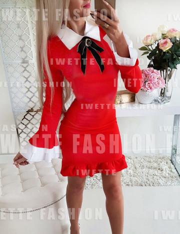 Sukienka Samanta Welur RED