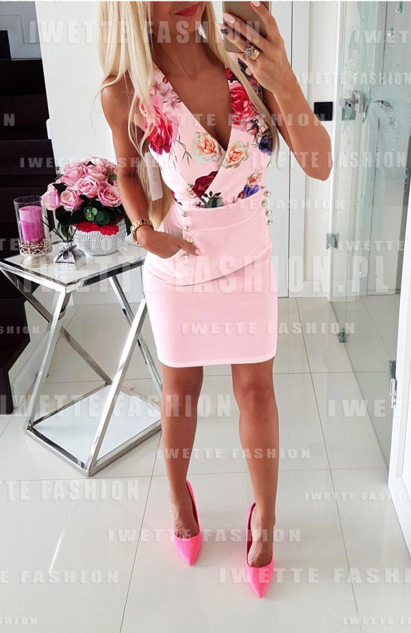 Sukienka Flowers Puder