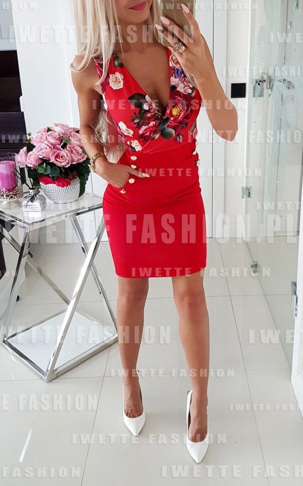 Sukienka Flowers RED