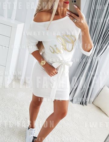 Sukienka Celine Ecru